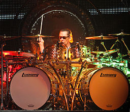 Color photo of Alex Van Halen of Van Halen Band