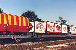 Color photo Ringling Bros. and Barnum & Bailey Circus Train