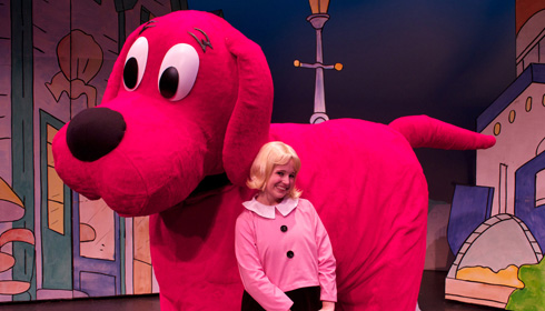 Color photo of Clifford the Big Red Dog