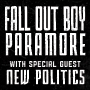 Signage for Fall Out Boy and Paramore Concert at Hersheypark Stadium