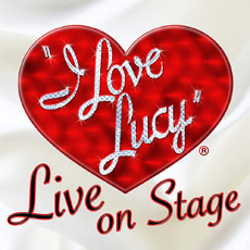 """I Love Lucy"" logo in a big red heart"