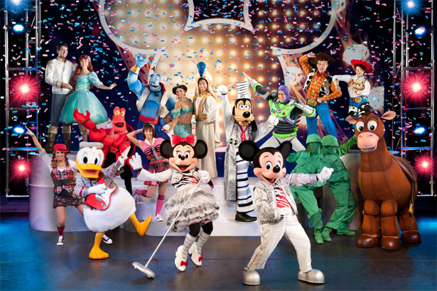 Colorful photo of Mickey and his friends