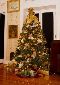 Photo of Christmas tree at Mt Hope Estate for the Holiday Open House