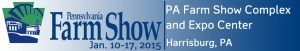 Blue and white banner for the Pennsylvania Farm Show