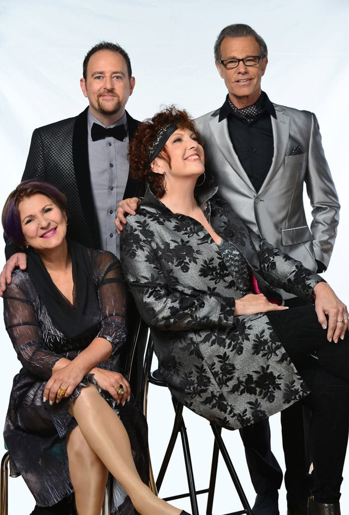 Color photo of singing group The Manhattan Transfer