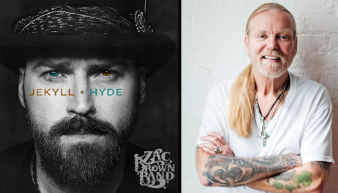 Color photos of Zac Brown of the Zac Brown Band and Greg Allman