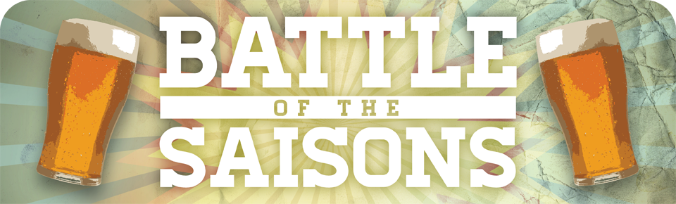 Banner for Battle of the Saisons picturing glasses of pale ale