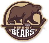 Brown and tan logo of a brown bear for the Hershey Bears ice hockey team