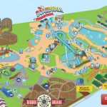 Colorful map of attractions at Hersheypark