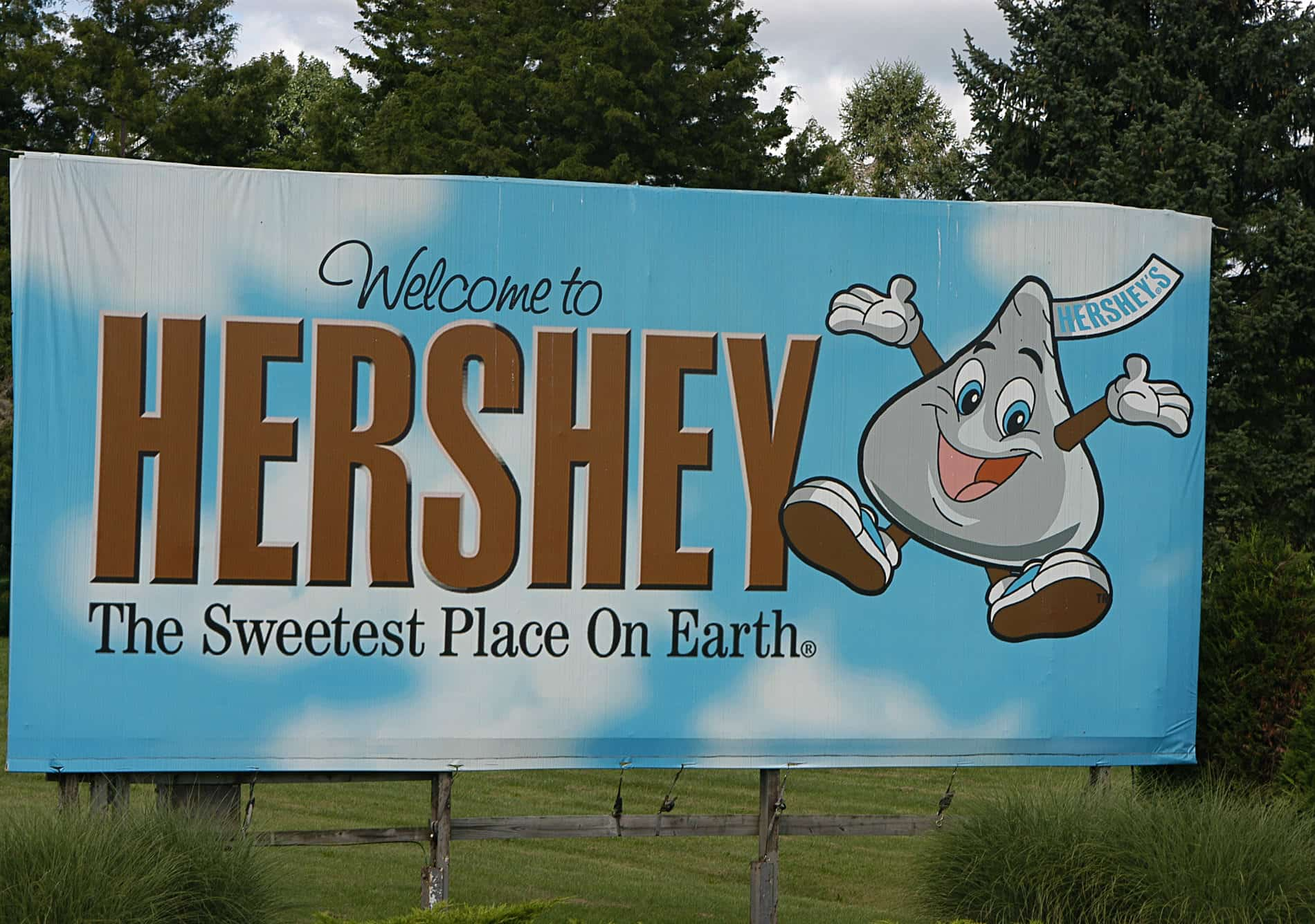 Picture of the Hershey welcome poster.